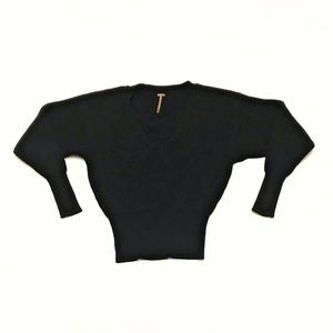 FP Free People Pullover Sweater Black Size Small